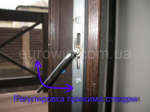 регулировка прижима окна